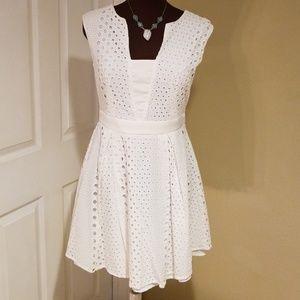White Eyelet Dress Size M